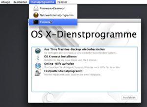 Mac Passwort Reset
